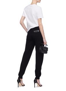 Valentino VLTN品牌名称羊绒针织休闲裤