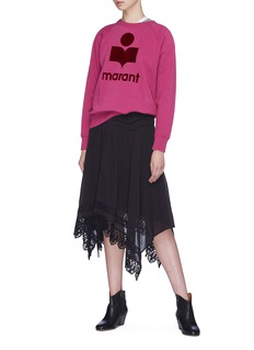 ISABEL MARANT ÉTOILE Milly植绒品牌标志混棉卫衣