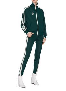 ISABEL MARANT ÉTOILE Darcey品牌标志侧条纹高领针织夹克