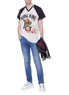 DOLCE & GABBANA Royal King英文字皇冠图案纯棉T恤