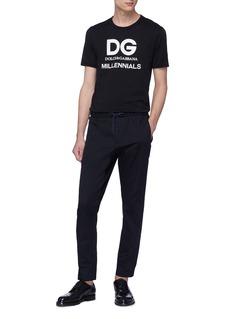 DOLCE & GABBANA DG MILLENNIALS印花纯棉T恤