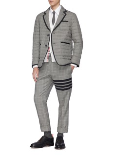 THOM BROWNE 千鸟格绗缝羊毛羽绒西服夹克