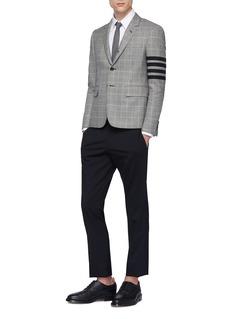 THOM BROWNE 四重条纹格纹羊毛西服夹克