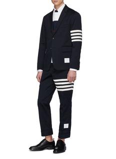 THOM BROWNE 四重条纹斜纹布西服夹克