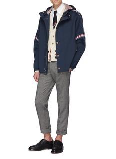 THOM BROWNE 三色条纹点缀oversize连帽夹克