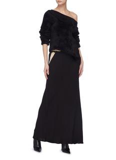 HAIDER ACKERMANN 拼接设计包裹式绉绸半身裙