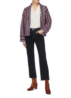Matilde 几何条纹提花羊毛针织夹克