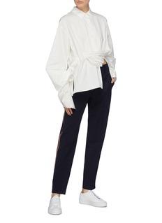 PORTSPURE 穿插设计oversize纯棉衬衫