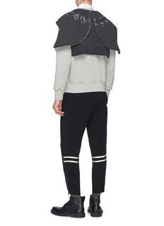 Alexander McQueen 仿两件式双层衣袖纯棉连帽卫衣
