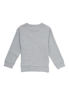 STELLA MCCARTNEY 儿童款拼色品牌名称印花卫衣及休闲裤两件套