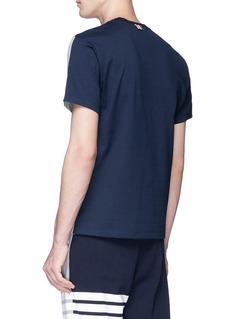 THOM BROWNE 拼色设计纯棉T恤