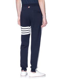 THOM BROWNE 条纹点缀拼色设计抽绳休闲裤