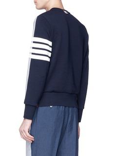 THOM BROWNE 条纹点缀拼色设计纯棉卫衣