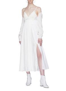 3.1 PHILLIP LIM 褶裥纯棉吊带连衣裙