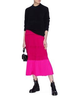 3.1 PHILLIP LIM 拼色设计百褶抽绳连衣裙