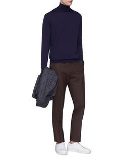 LARDINI 立领羊毛针织衫