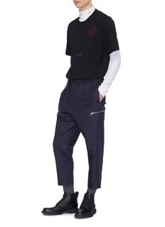 OAMC 腰带松紧裤腰低裆露踝裤