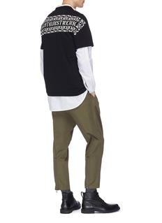 OAMC 拉链裤脚口露踝裤