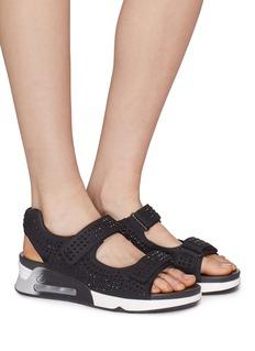 ASH Lullaby仿水晶魔术贴搭带厚底凉鞋