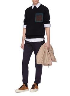 KOLOR 补丁口袋羊毛针织衫