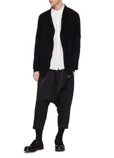 THE VIRIDI-ANNE 翻领侧开襟混羊毛针织外套