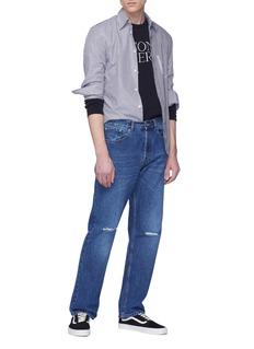 SECOND/LAYER 品牌名称刺绣毛圈布卫衣