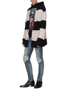 AMIRI 拼色条纹混羊毛针织外套