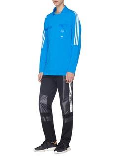 adidas x Oyster Holdings 48 Hour拼色条纹双口袋翻领T恤