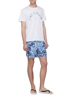 THE UPSIDE 扎染品牌名称纯棉T恤