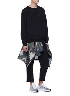 THE UPSIDE Redford品牌名称刺绣水洗鱼鳞布卫衣