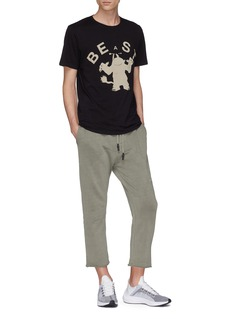 THE UPSIDE BEASTLY NEWMAN野兽剪影印花T恤
