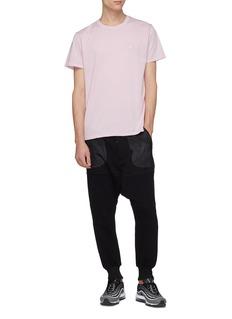 THE UPSIDE The Newman品牌名称刺绣棉质T恤