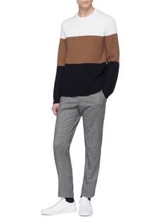 THEORY Romman拼色美丽诺羊毛针织衫