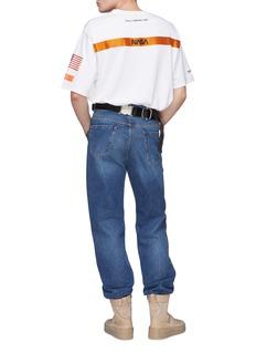 Heron Preston x NASA刺绣及罗缎布饰纯棉T恤