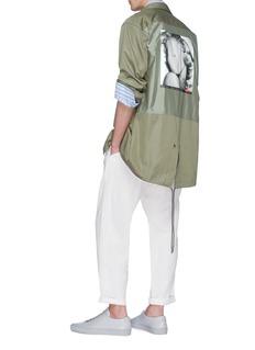 Pablo Rochat Hey Boo 1953玛丽莲梦露肖像印花oversize衬衫式外套