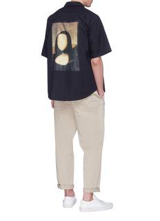 Pablo Rochat Mona Lisa's Tongue 1503蒙娜丽莎画作印花oversize衬衫