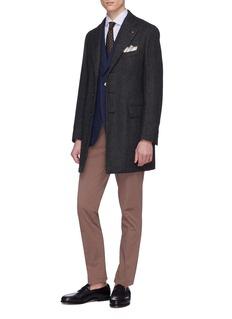 ISAIA Colorado羊毛斜纹布西服式大衣