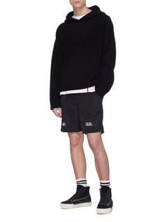 RtA 反光品牌名称及拼贴抽绳短裤