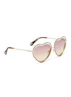 CHLOÉ Poppy双层心型框太阳眼镜