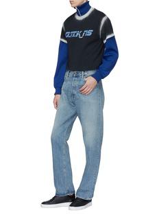 D.TT.K 渐变细节品牌名称纯棉T恤