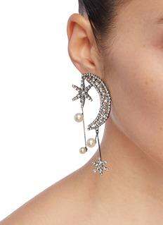 Jennifer Behr Cosmos仿水晶及人造珍珠星星月亮吊坠耳环