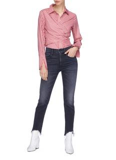 3x1 W3 Straight Authentic Crop须边高腰直脚露踝牛仔裤