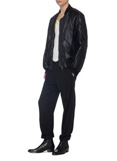 HAIDER ACKERMANN 光泽感oversize夹棉棒球夹克