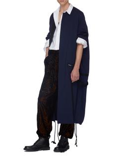 HAIDER ACKERMANN 植绒棕榈树叶纹理长裤