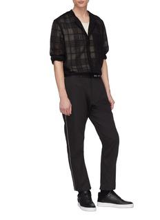 SIKI IM / DEN IM /SITUATIONIST刺绣侧条纹长裤