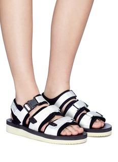 SUICOKE GGA-V三重尼龙搭带凉鞋