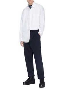 3.1 PHILLIP LIM 双层设计收据印花纯棉衬衫