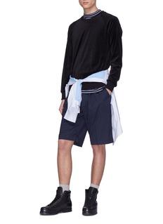 3.1 PHILLIP LIM 针织裤腰褶裥初剪羊毛锥形短裤