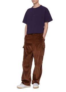ACNE STUDIOS 品牌名称印花oversize纯棉T恤