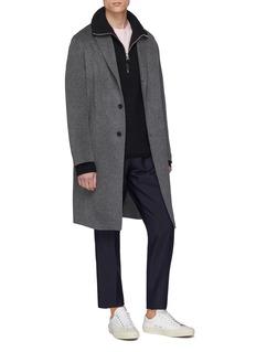 ACNE STUDIOS Boston褶裥羊毛混马海毛西服长裤